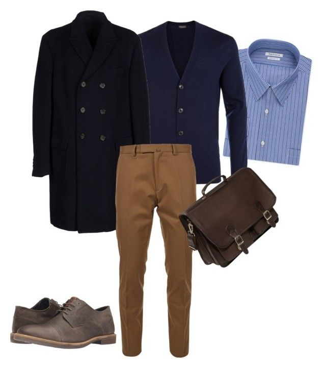 Mens Business Casual by luciana-coconut on Polyvore featuring Van Heusen, Valentino, Paul Smith, Hartford, Ben Sherman, Piel Leather, men's fashion and menswear