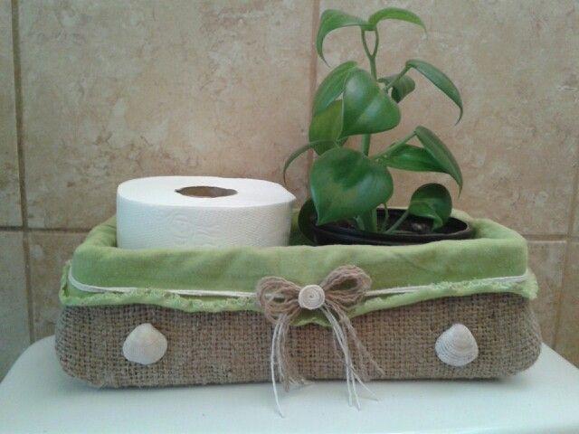 Caja de zapatos convertida en adorno para el ba o mis for Ideas para decorar el bano de mi casa