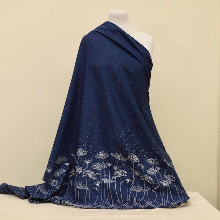 Motif Bleu Tissu 100/% Coton Popeline au mètre