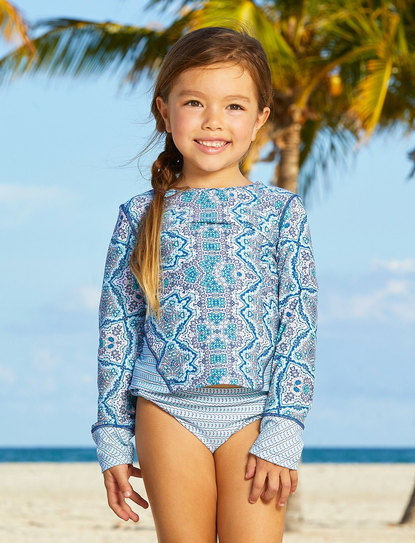 07ca6b1fa3 Little Girls Bali Seas Rashguard Set