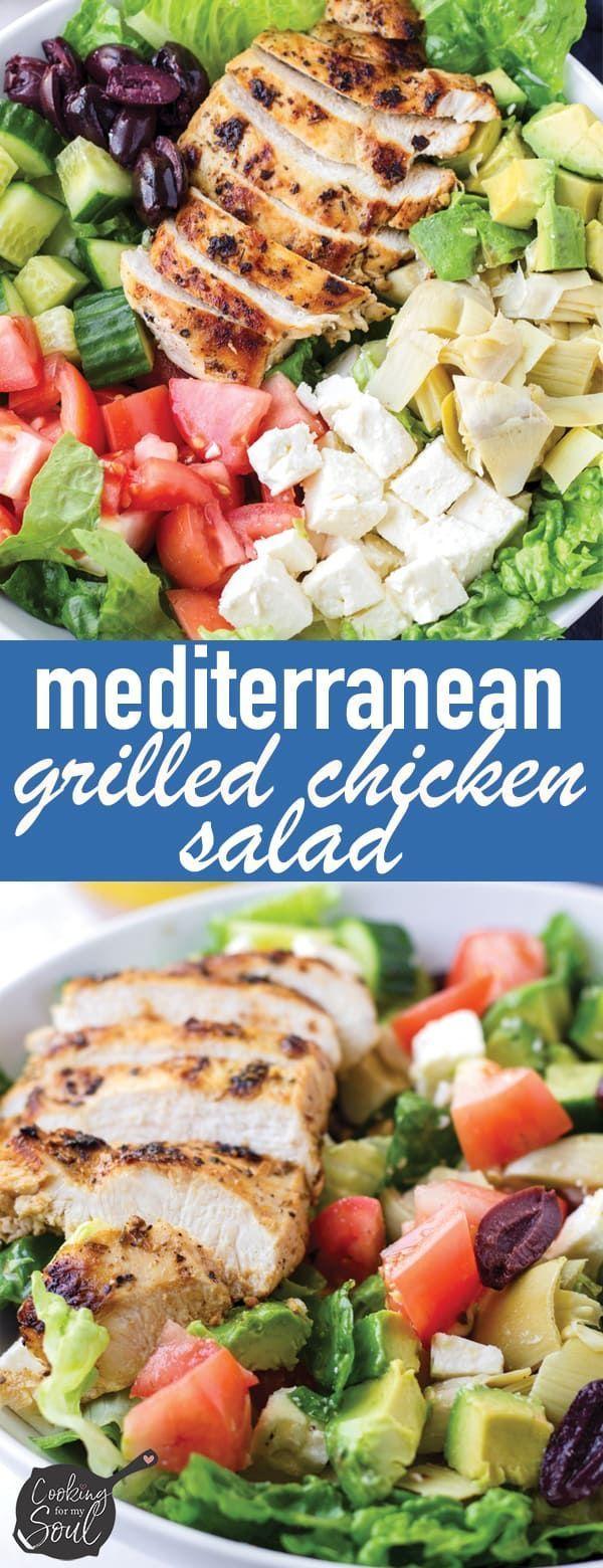 Der beste mediterrane Hühnersalat! Dieser mediterrane gegrillte Hühnersalat i ... #beste #der #dieser #gegrillte #huhnersalat #mediterrane #mediterraneanrecipes