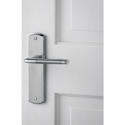 Alina Lever Latch Door Handle - Satin and Polished Chrome  sc 1 st  Pinterest : homebase door furniture - pezcame.com