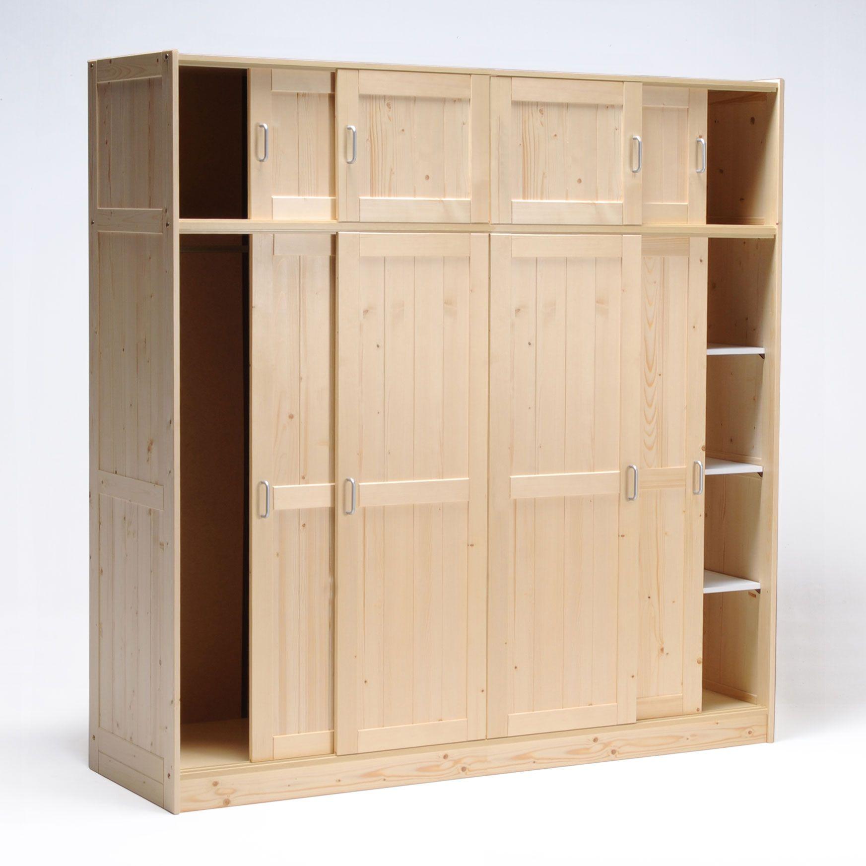 armoire 4x4 portes coulissantes en bois l200xp57xh208cm. Black Bedroom Furniture Sets. Home Design Ideas