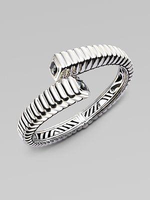 John Hardy Hematite Accented Sterling Silver Cuff Bracelet