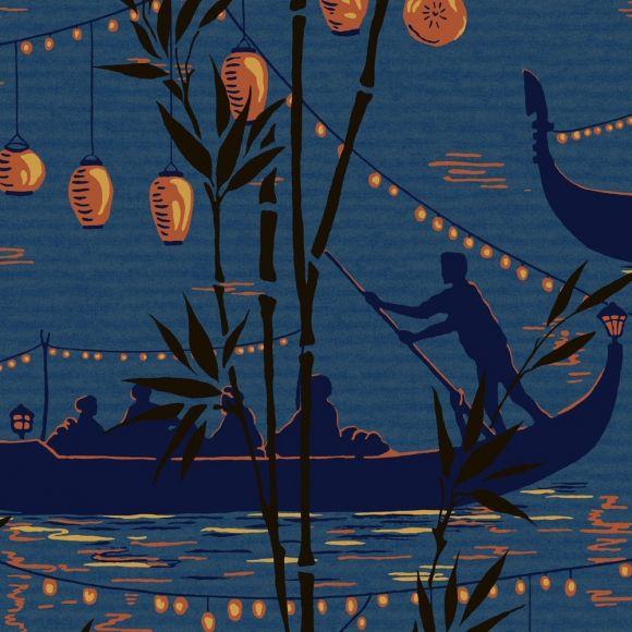 Papier peint Gondola Oriental, Interiors and Walls - peindre sur papier vinyl