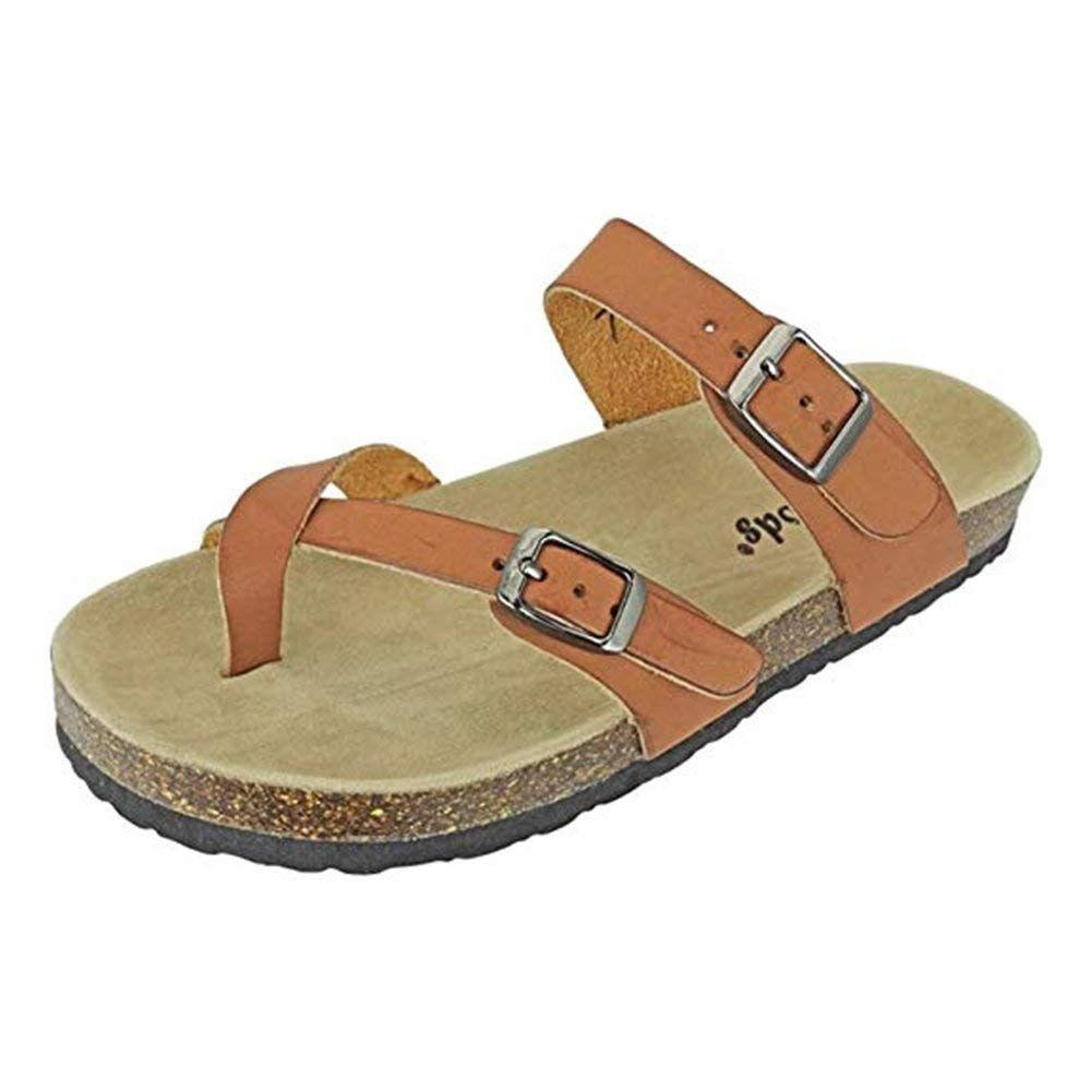 1d642fad3a9f3 Ann More Women s Open Toe Strappy Flat Sandals l Comfort Summer Cork Slide  l Flip Flop Sandal -- Wonderful of your presence to drop by to view our  picture.