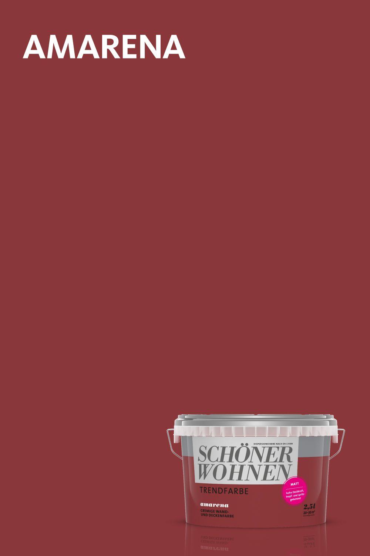 Amarena Eine Der Originalen Trendfarben Von Schoner Wohnen Farbe Schoner Wohnen Farbe Schoner Wohnen Wohnen
