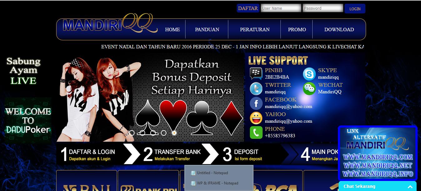 MandiriQQ | Poker, Mainan, Main game