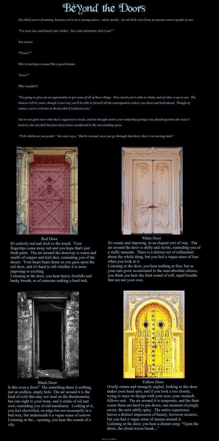 Beyond the doors cyoa tg album on imgur cyoa in