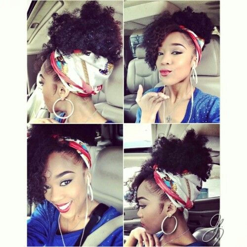 Scarf Updo W Curls Gonna Do This One Day In The Summer