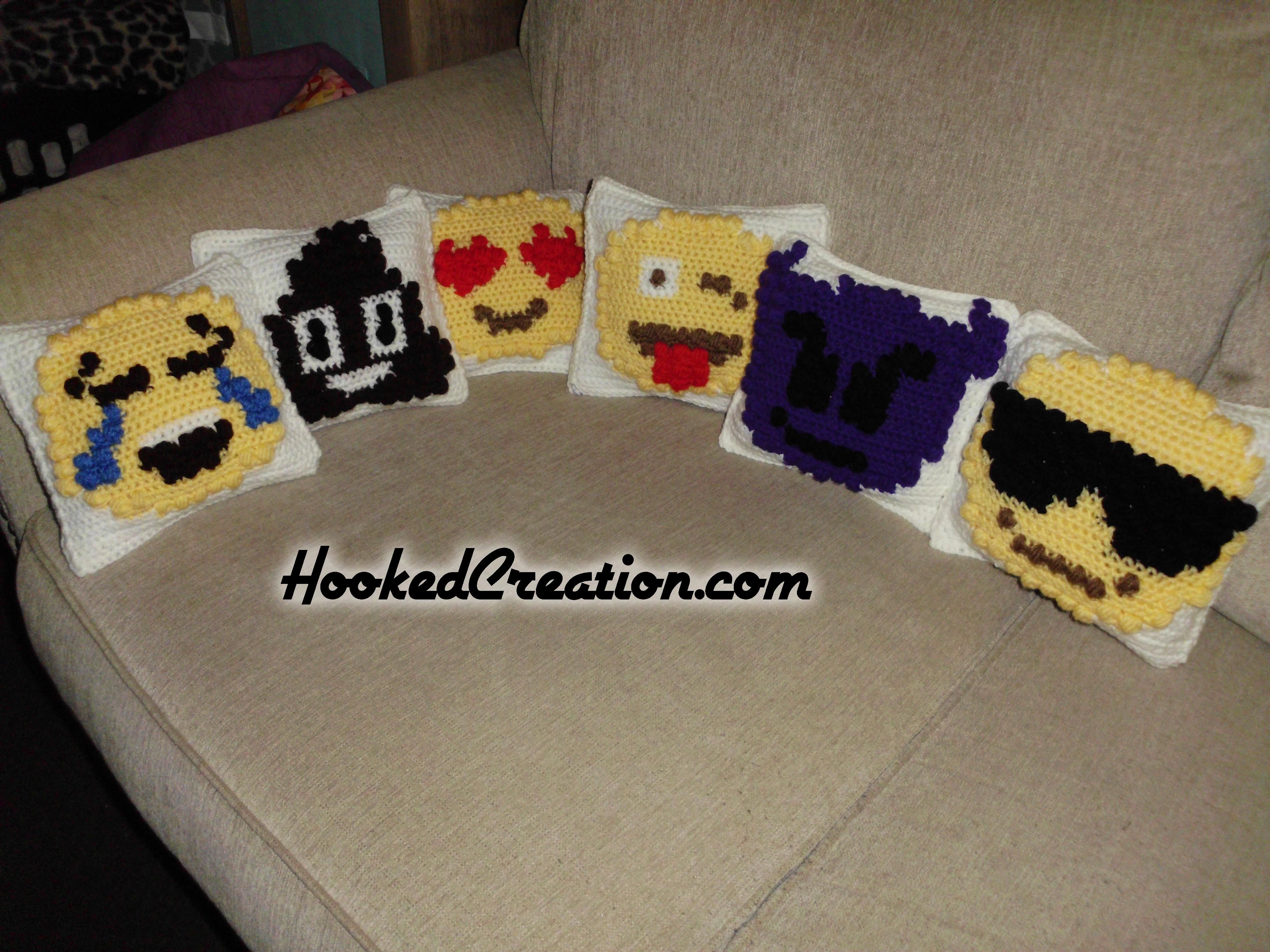 Emoji popcorn pillows crochet pattern crocheted stuff pinterest