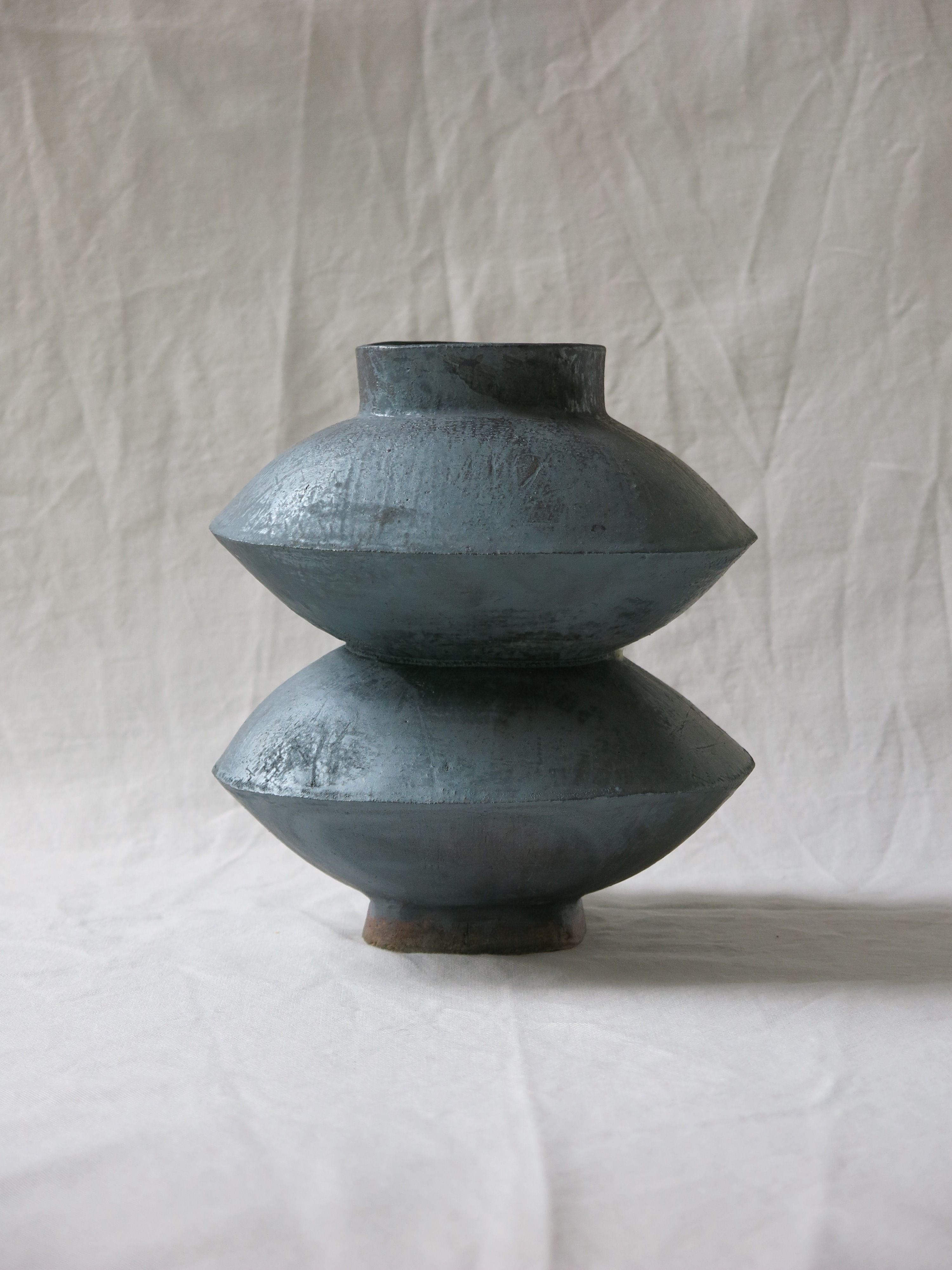 Dbl vase handmade ceramic designed in brooklyn made in