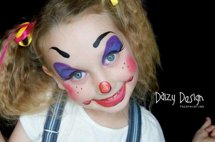 Super Cute Clown By Daizy Design Nz Kinderschminken Kinder Schminken Schminken