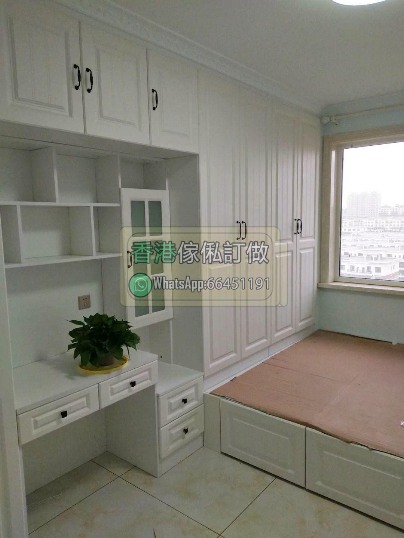 香港傢俬全屋訂造室內設計查價加whatsapp 66451191 衣櫃實木綠悠軒書