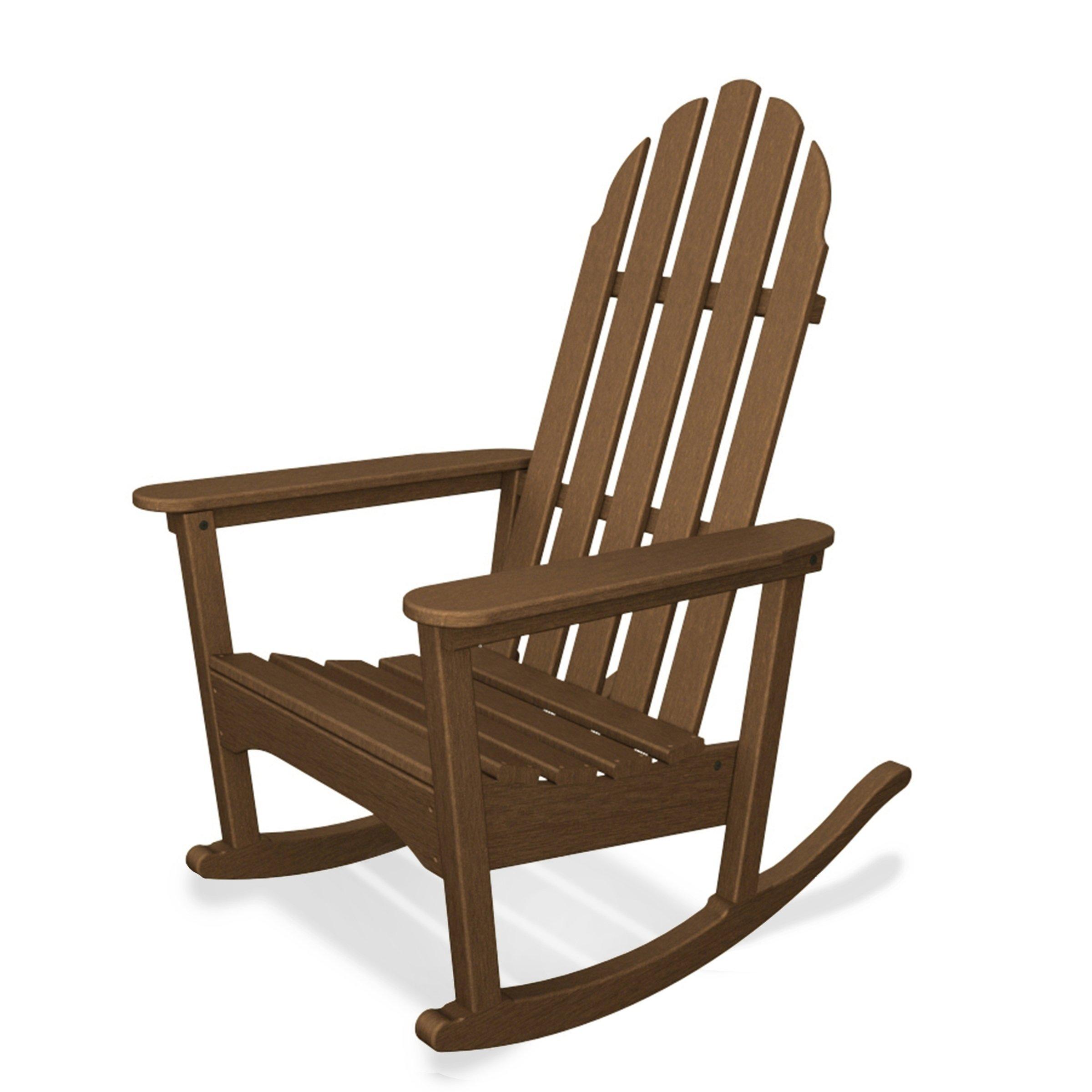 Classic Adirondack Rocker Assembly Required Brown Plastic Patio Furniture Adirondack Rocking Chair Rocking Chair Rocker Chairs