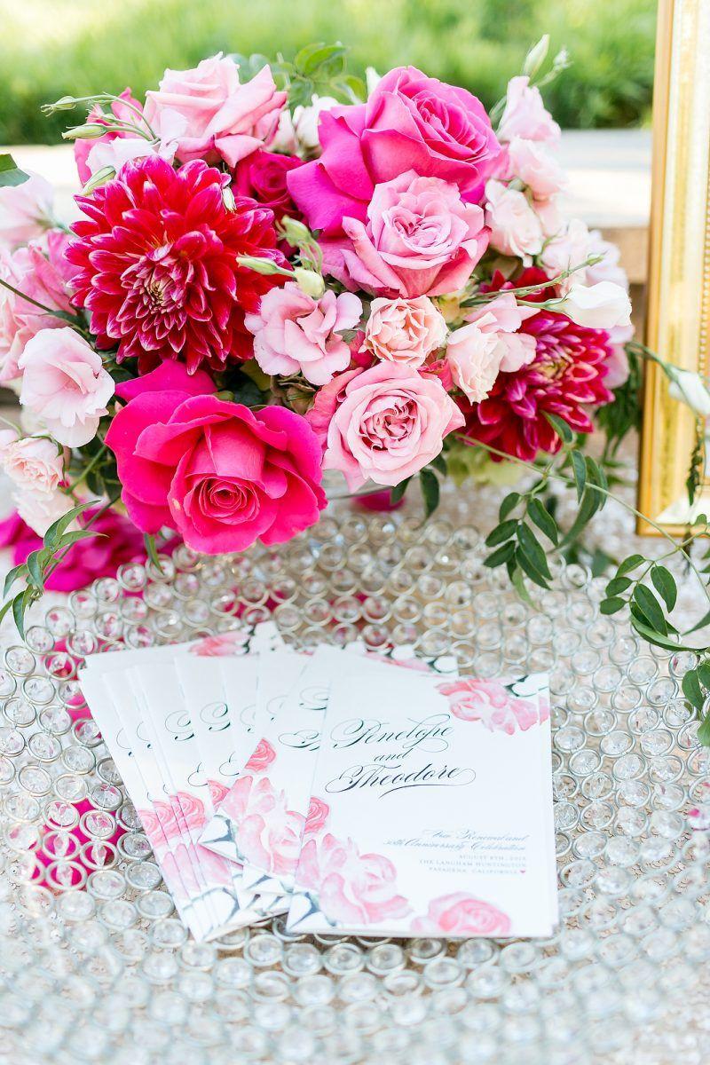 Wedding Anniversary Of 30 Years Pink Flowers Pink Wedding Anniversary