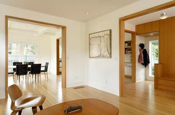 Midcentury Modern Wood Trim Google Search White Baseboards Wood Doors Interior Best Wall Colors