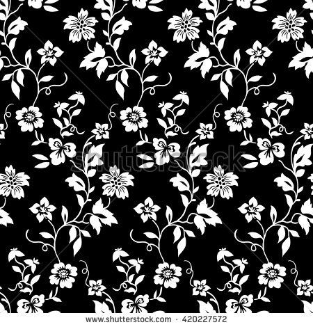 Tiny flowers seamless pattern vector black and white flower tiny flowers seamless pattern vector black and white mightylinksfo