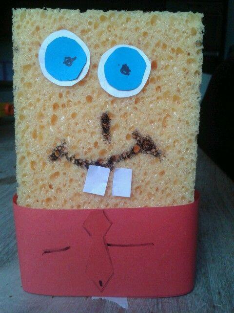 Spongebob gemaakt door mijn zoontje op een kinderfeestje