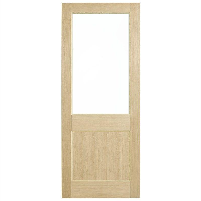Corinthian Doors 820 X 2040 X 40mm Blonde Oak Awo 2g Clear Glass Entrance Door In 2020 Glass Entrance Doors Installing French Doors Cavity Sliding Doors