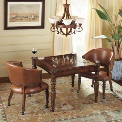 Mandalay Chess Game Table And Chairs Frontgate Game Room Chairs Game Table And Chairs Game Room Furniture