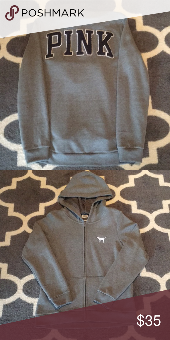 5533a00c2e724 Victoria's Secret PINK Hooded Sweatshirt Small Great condition. Gray ...