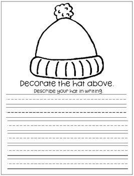 Jan Brett S The Hat And The Mitten Freebie Jan Brett The Hat Writing Lesson Plans Descriptive Writing