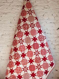 Quilt gemaakt van patroon barbara brackman