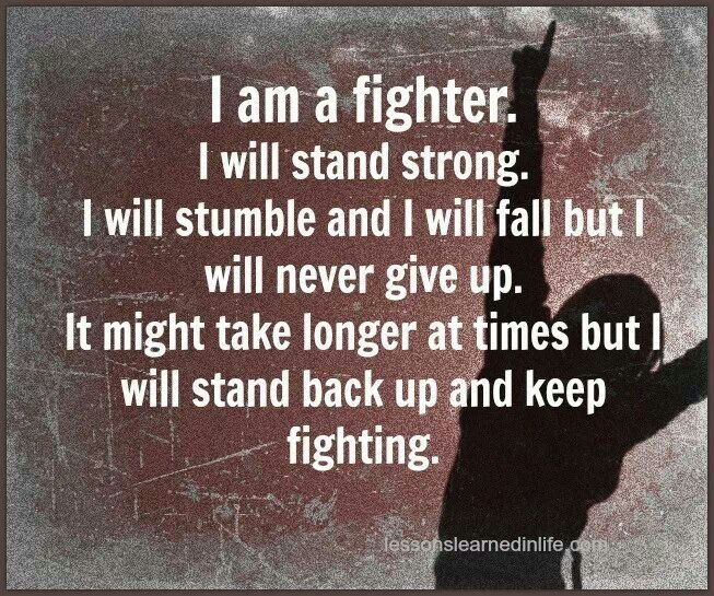 Yeahi Am I Fighter Secular Quotes Pinterest Quotes