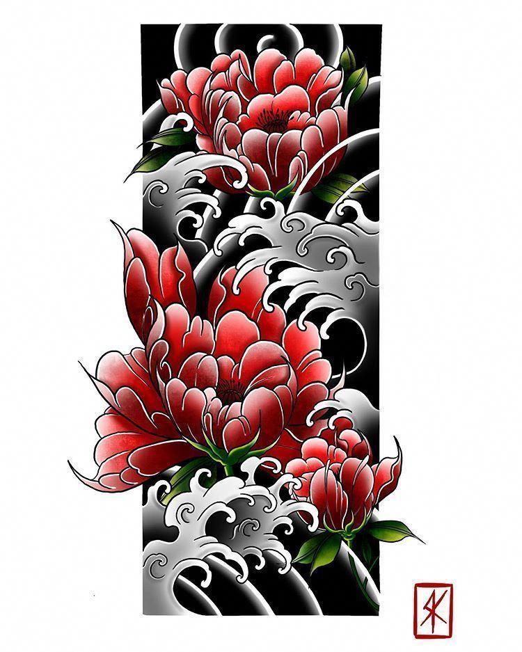 japanese tattoos love in 2020 Japanese flower tattoo