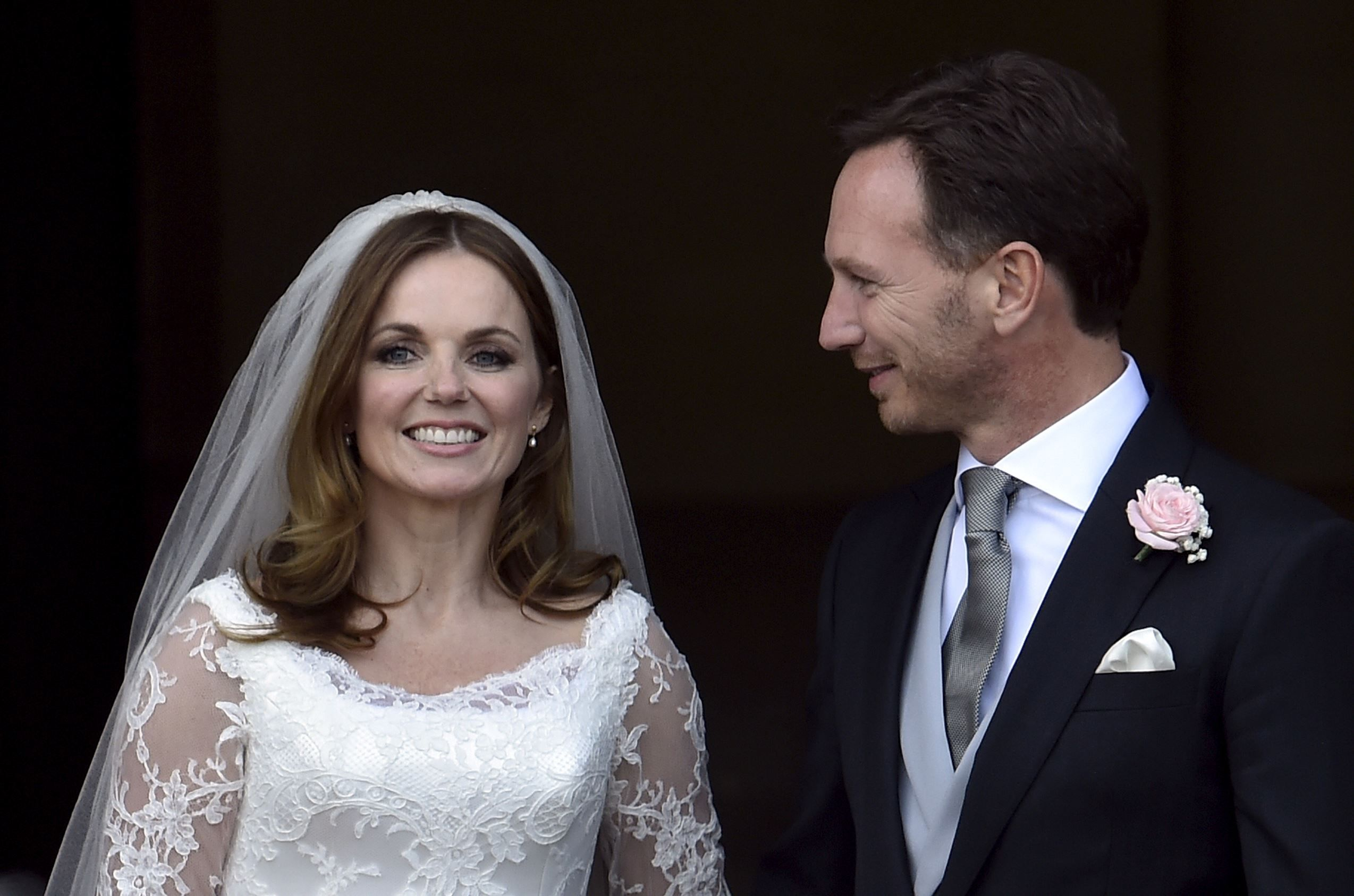 Ginger spice ties the knot celebrities and royalty pinterest