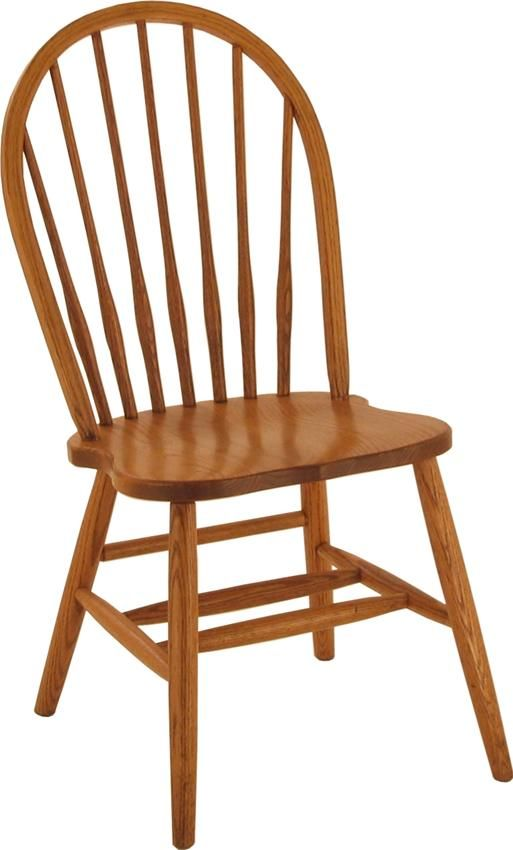 Amish Spindle Bow Back Windsor Chair Solid Wood Dining Room Chairs Dining Room Chairs Amish Furniture