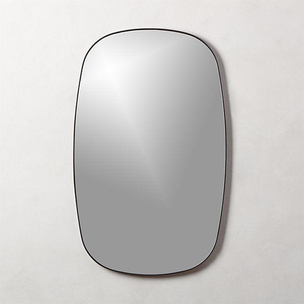 Infinity Black Oblong Wall Mirror Reviews Cb2 In 2020 Modern Mirror Wall Mirror Wall Gold Mirror Wall