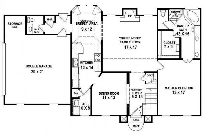 Bedroom 2 5 Bath House Plan for Watchman | Floor Plans | Pinterest