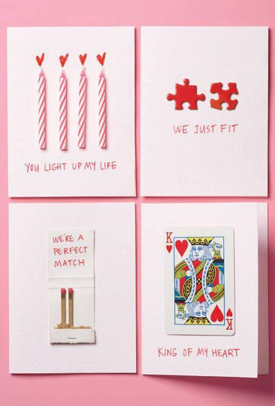 Carte Saint-Valentin à faire soi même Pinterest