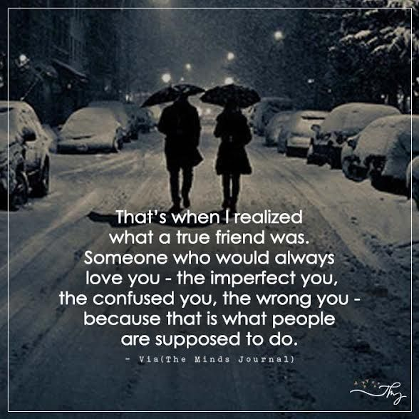 Quotes On Wah A True Friend Is: That's When I Realized What A True Friend Was.