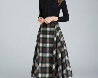 black wool skirt maxi skirt winter skirt classic skirt by xiaolizi ...