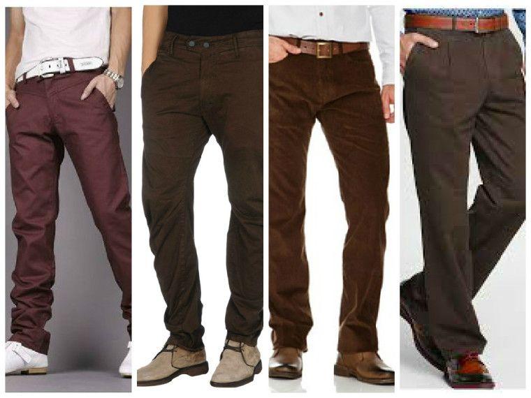 f7263bf067aa6 como usar un pantalon cafe hombre - Buscar con Google