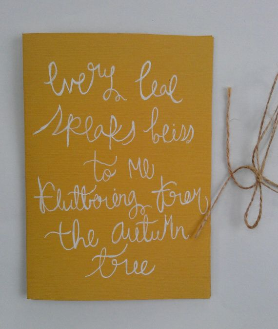 Emily Bronte Fall Quote Card. $2.75, Via Etsy. From: Fall Leaves Fall