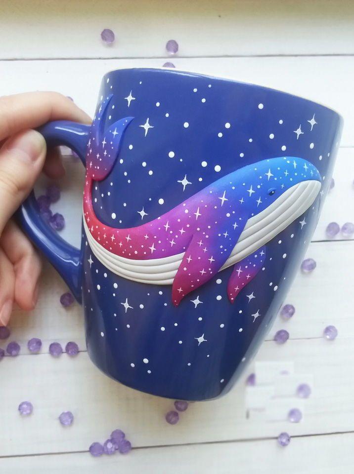 DIY Polymer clay decoration mug tutorial