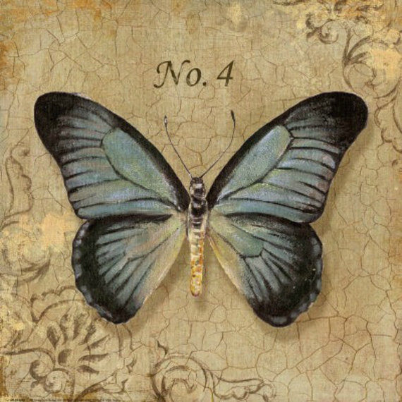 Blue Butterfly Cross stitch pattern pdf format by diana70 on Etsy