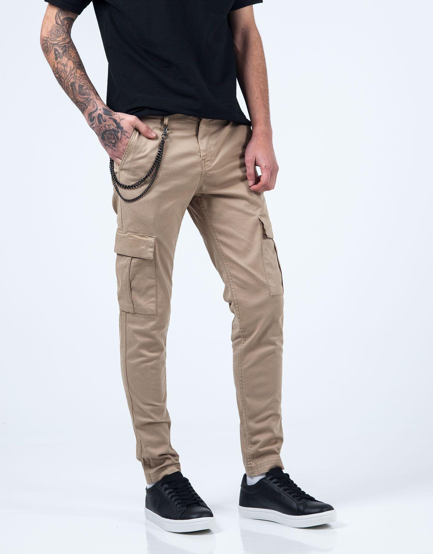 Pantalon Cargo Beige Jvz Pantalones Cargo Pantalones Pantalones Slim Fit