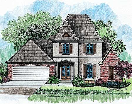 Plan 14114KB Southern Charm French house plans, Architectural