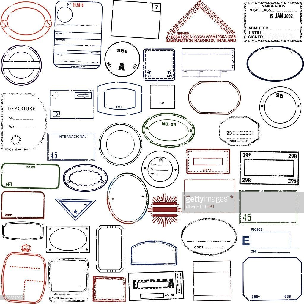 Travel Stamps Giant Blank Passport Stamp Collection Great If You