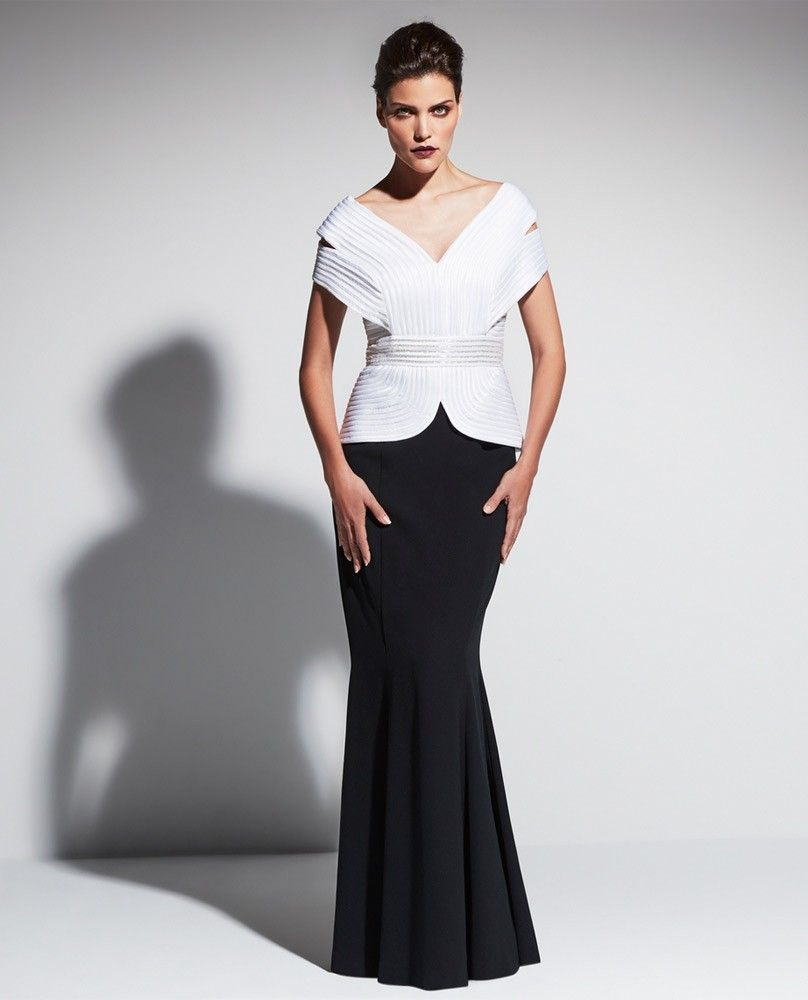 Daymor Couture 461 Mock 2 Piece Gown $790 | Fabulous Fashionista ...