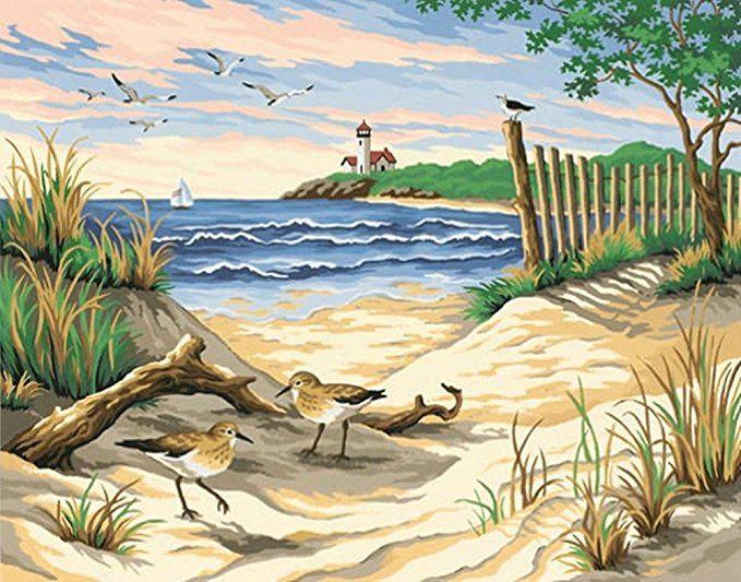16X20 Zoll DIY Malerei Wandmalerei   Bilder Strand Meer Bilder Bilder Ideen  Natur Landschaft Bild Picture