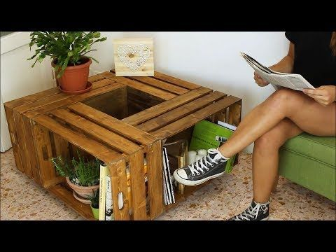 Whip Up A Rolling Coffee Table With Crates