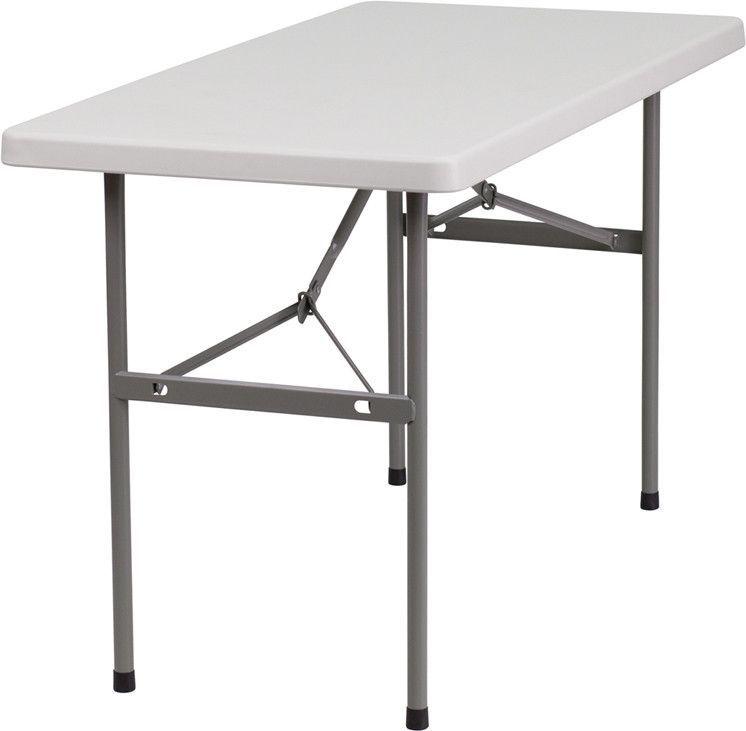 24 W X 48 L Granite Plastic Folding Table Folding Table Flash Furniture Furniture