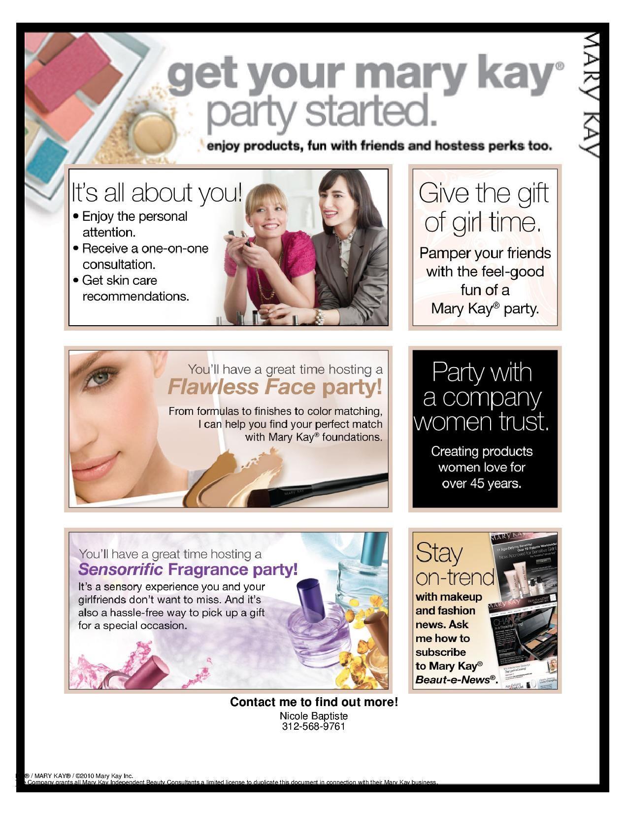 Mary Kay Party Ideas Pinterest | Party Invitations Ideas | Beauty ...