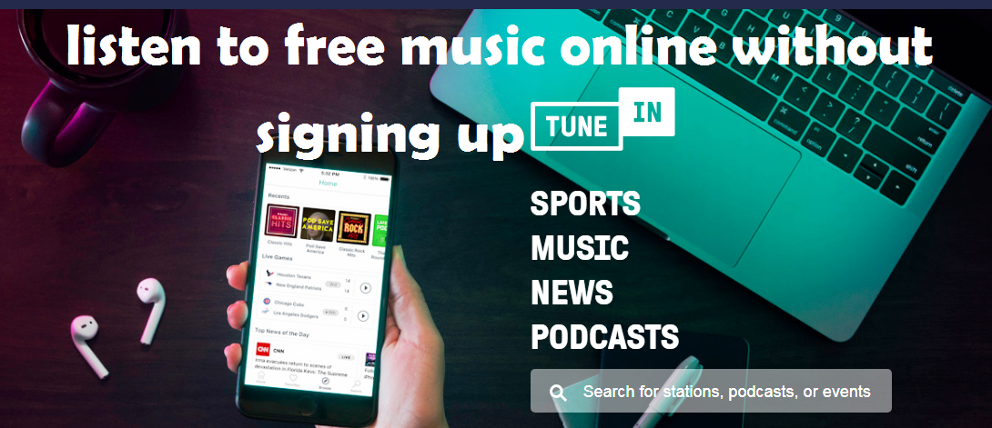top free music streaming sites